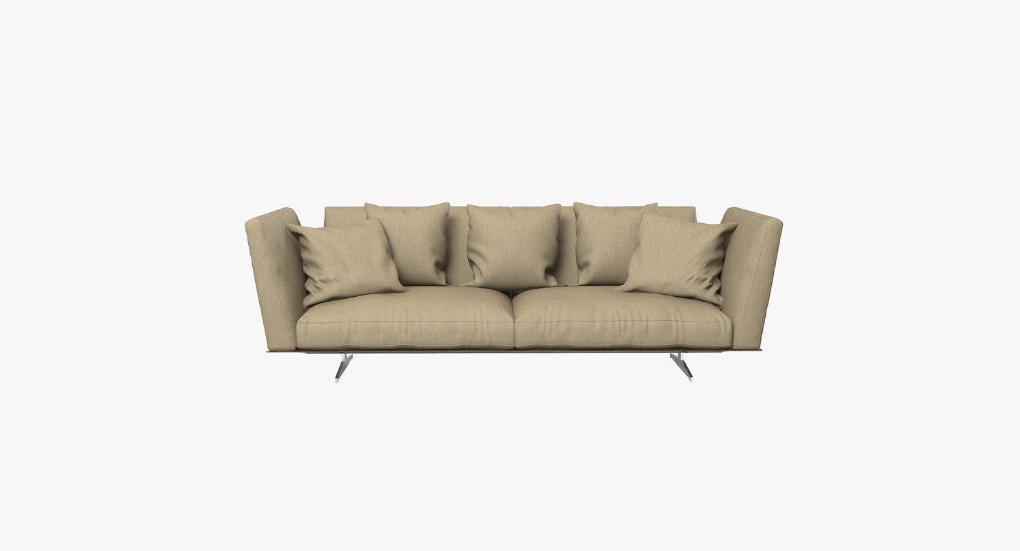 flexform evergreen sofa 3d max