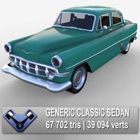 3d generic classic sedan broadway