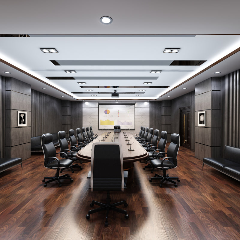Conference room 3d model for 3d model room design