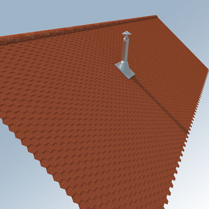 roof tiles chimney 3ds free