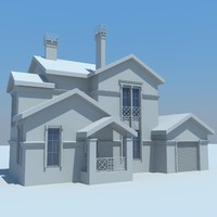 3d cottage house buildings