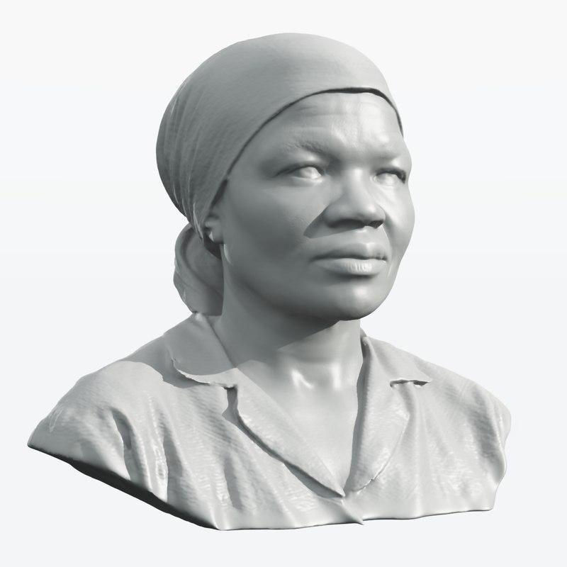 scan african woman 3d obj