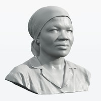 scan african woman 3d obj