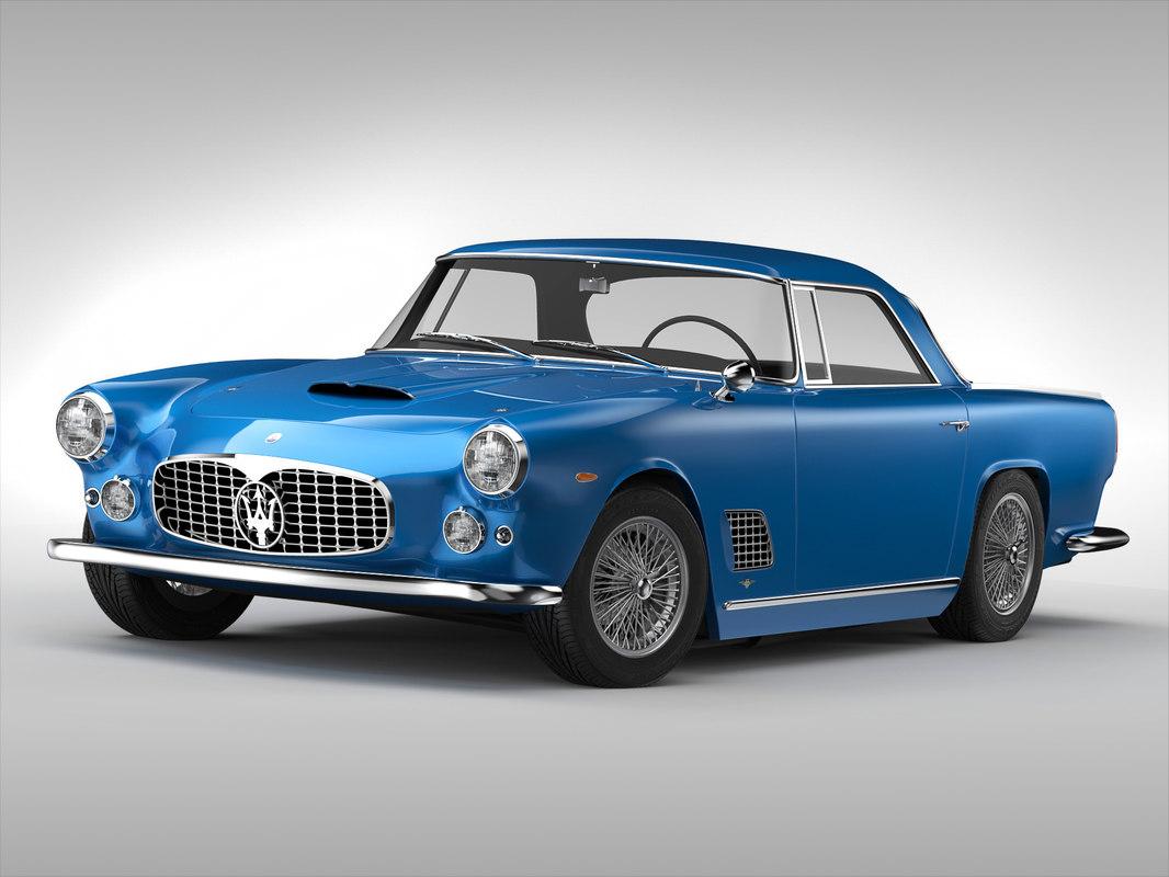 3d model maserati car