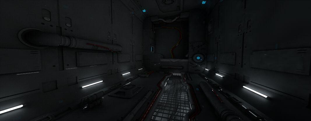 texturing spaceship interior 3d model