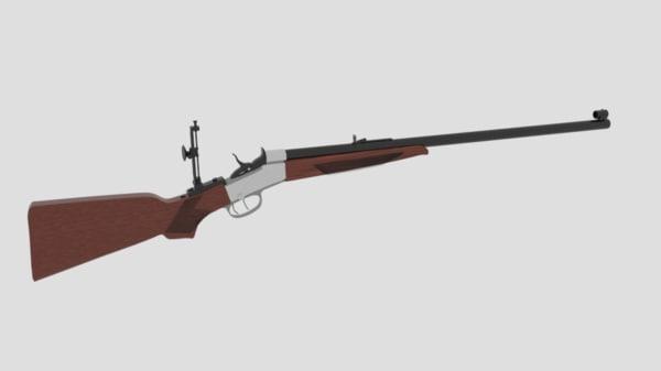 3d cherry rifle creedmoor model