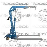 3d model crane lifting
