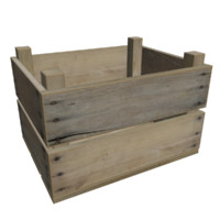 ready wooden fruit crate 3d model
