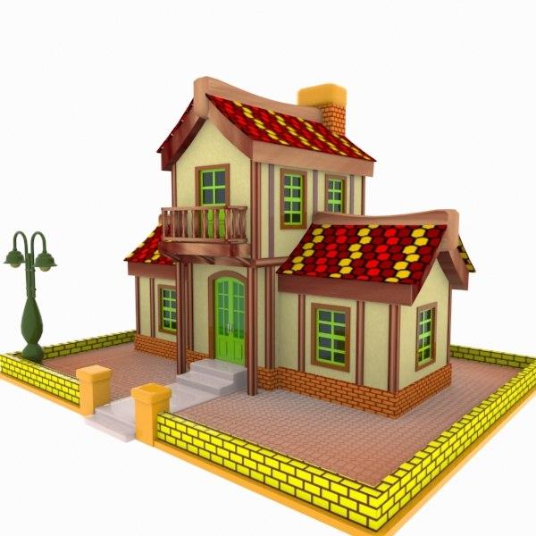 house toon 3d 3ds