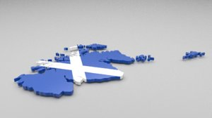 scotland flag 3ds