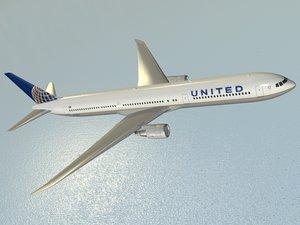 b 767-400 er airliner 3d 3ds
