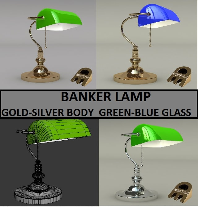 3ds bankers lamp