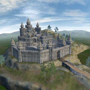 3d model castle ready