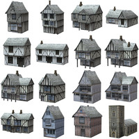 Low Polygon Medieval Buildings
