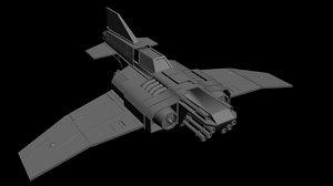 thunderbolt fighter 3d model