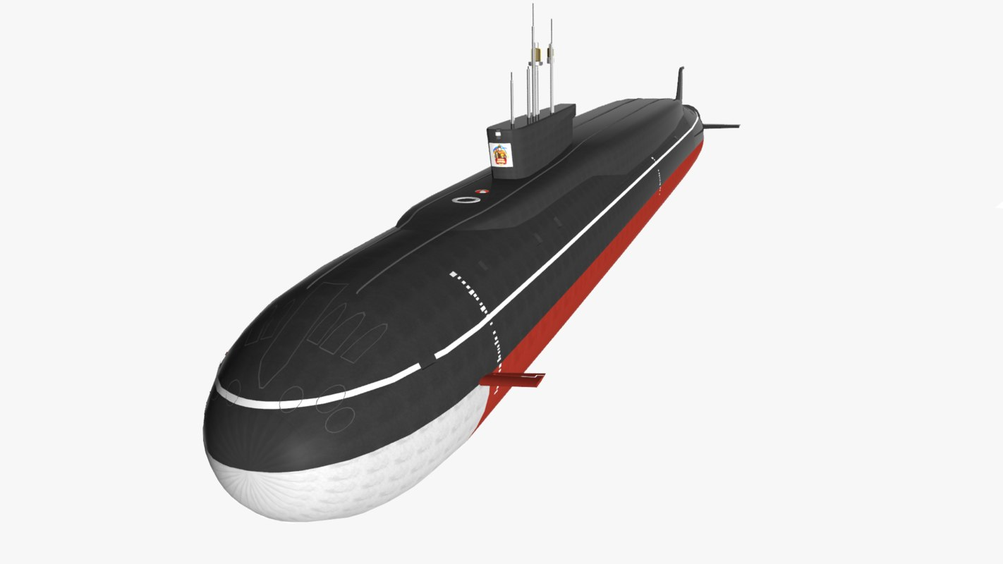 submarine borei project 955 3d max