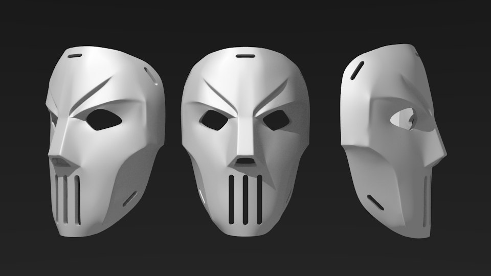 printable casey jones mask 3d model