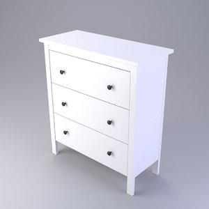 ikea chest drawers 3d model