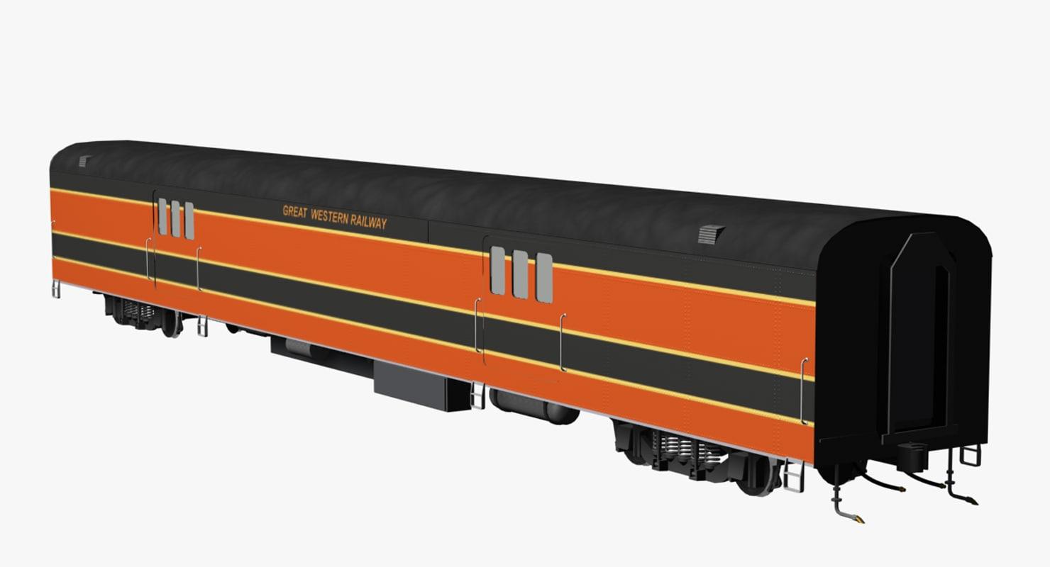 3ds max pullman baggage car