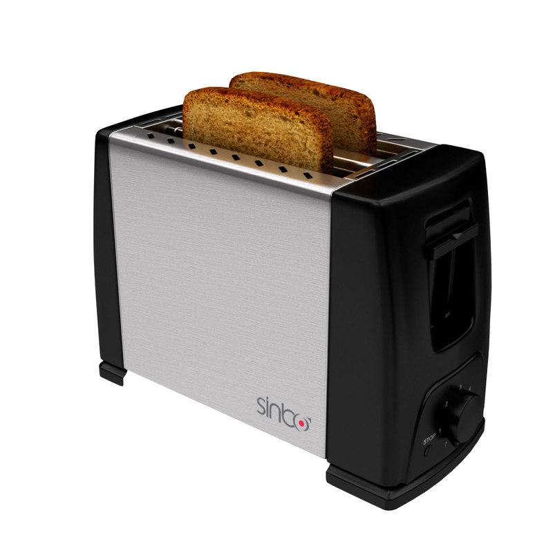 toaster sliced bread 3d model