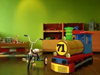 3d model toy train