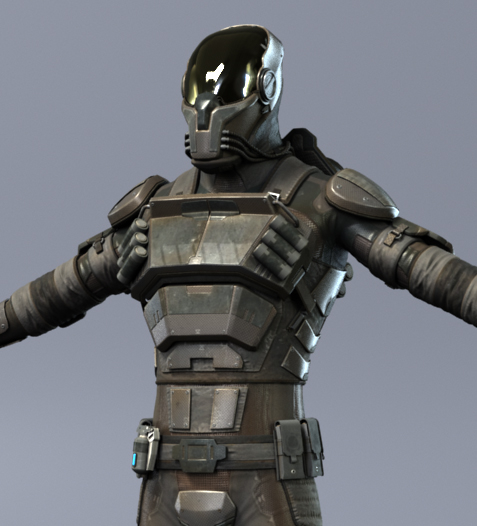 character gun 3d model