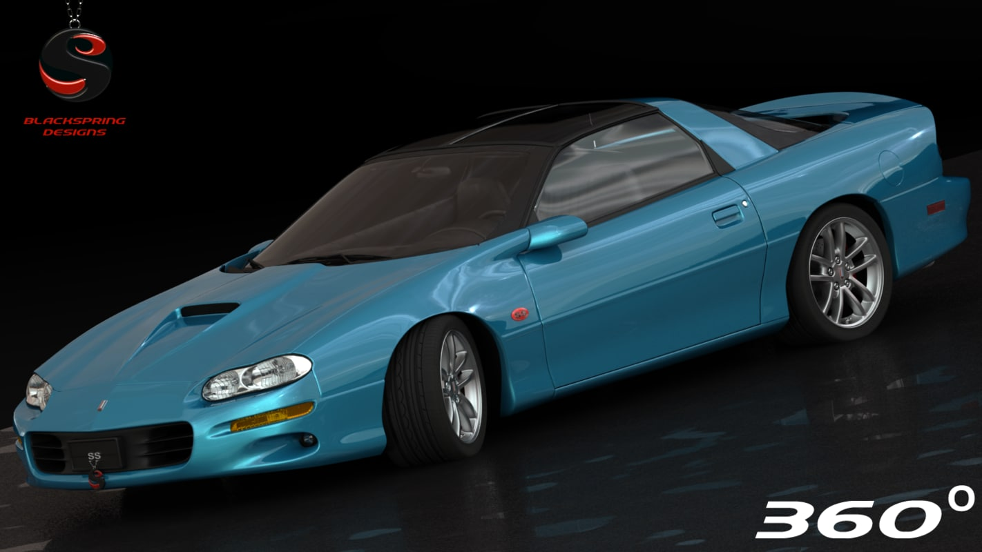 chevrolet camaro ss 2001 3d model