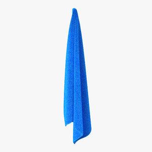 hanging bathroom towel blue max