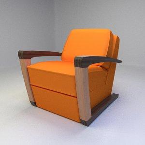 kustom armchair 3d model