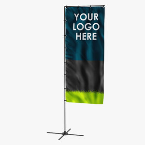 banner stand 5 generic 3d 3ds