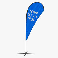 banner stand 3 generic 3d model
