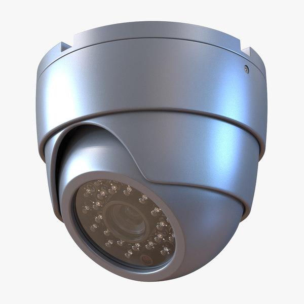 3d 3ds cctv camera 3
