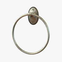 hand towel ring 3d max