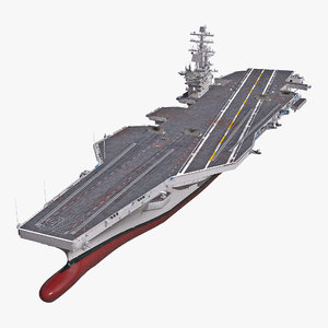uss ronald reagan cvn 76 3d model