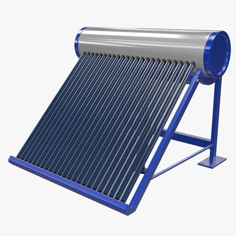 solar heater 1 3d obj