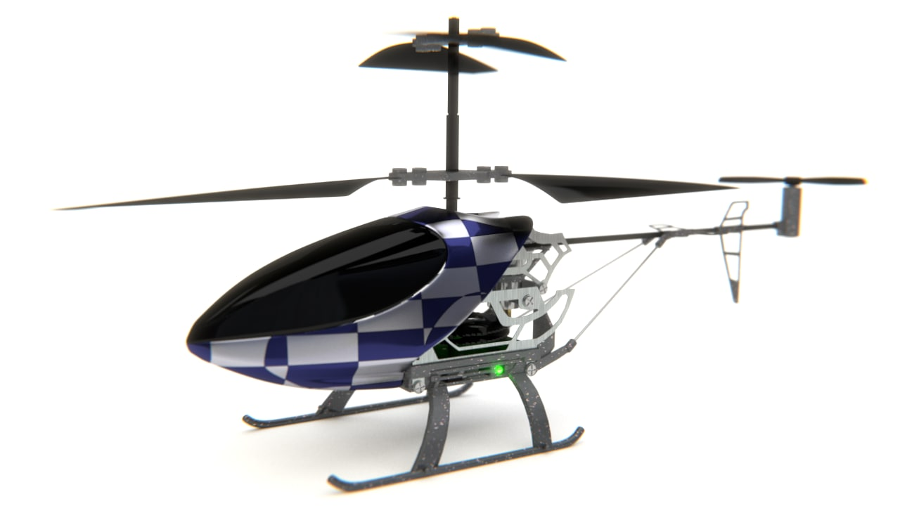 3d 3ds rc helicopter