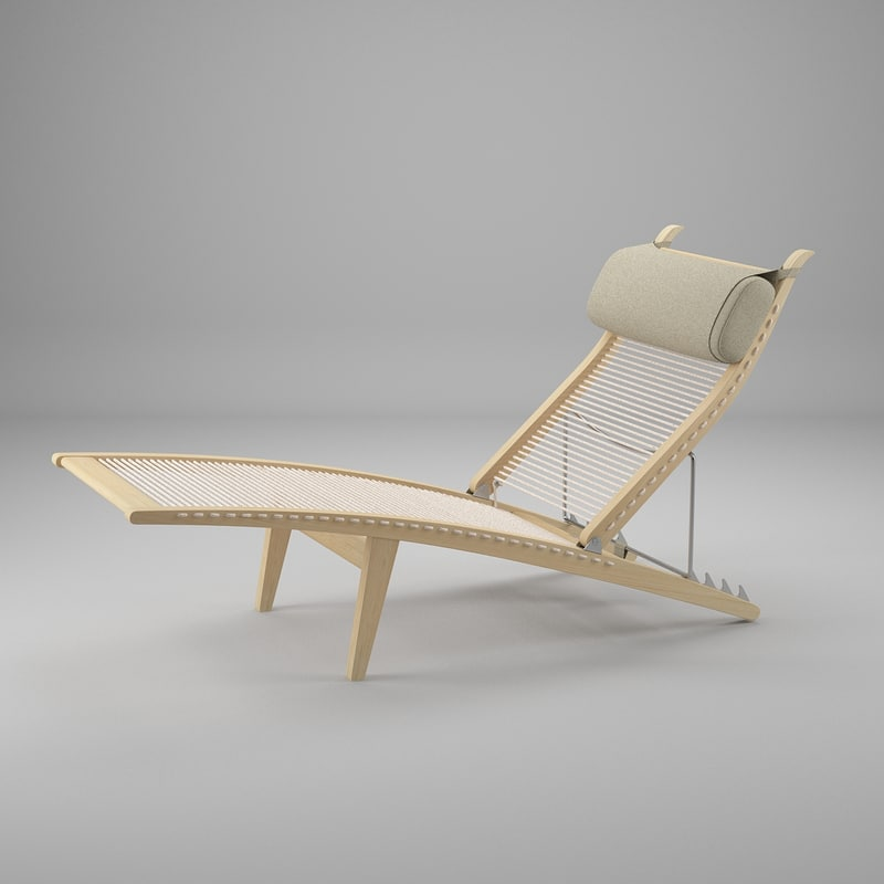 3d deck chair wegner hans j model
