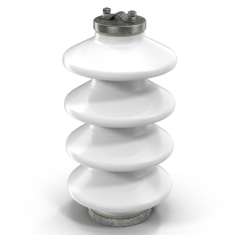 3ds max ceramic insulator white