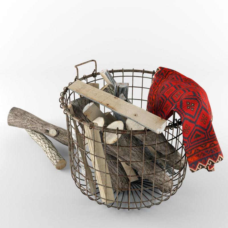 max firewood wire basket