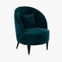 dom edizioni sabre velvet armchair