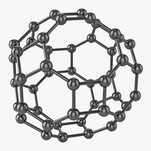 3d buckyball realistic model