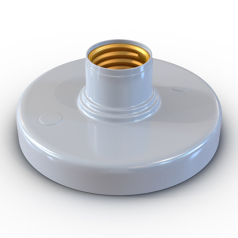 3d light bulb socket