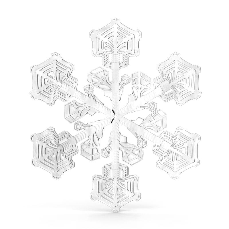3d snowflake 2
