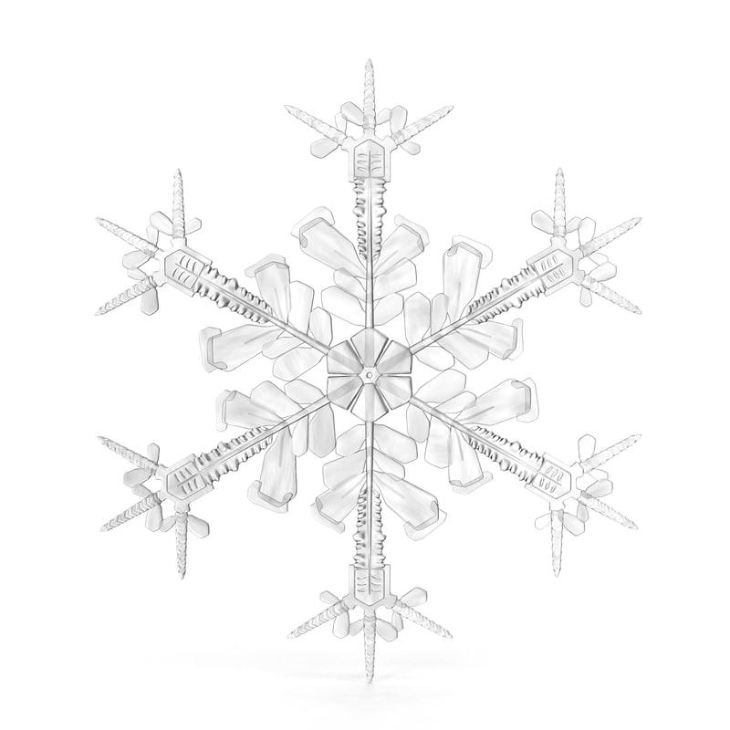 3d model snowflake 4