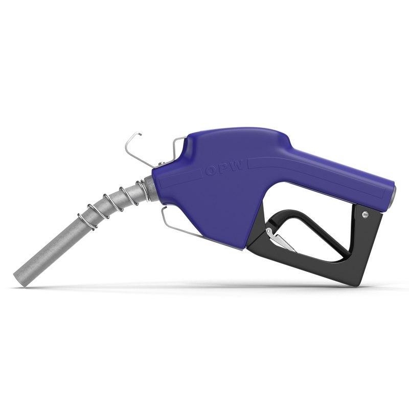 3ds max fuel nozzle blue