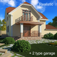 3d two-story cottage