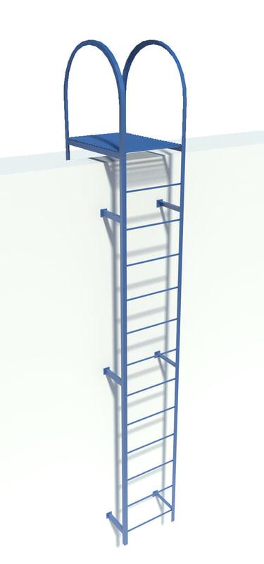 metal step-ladder 3d max