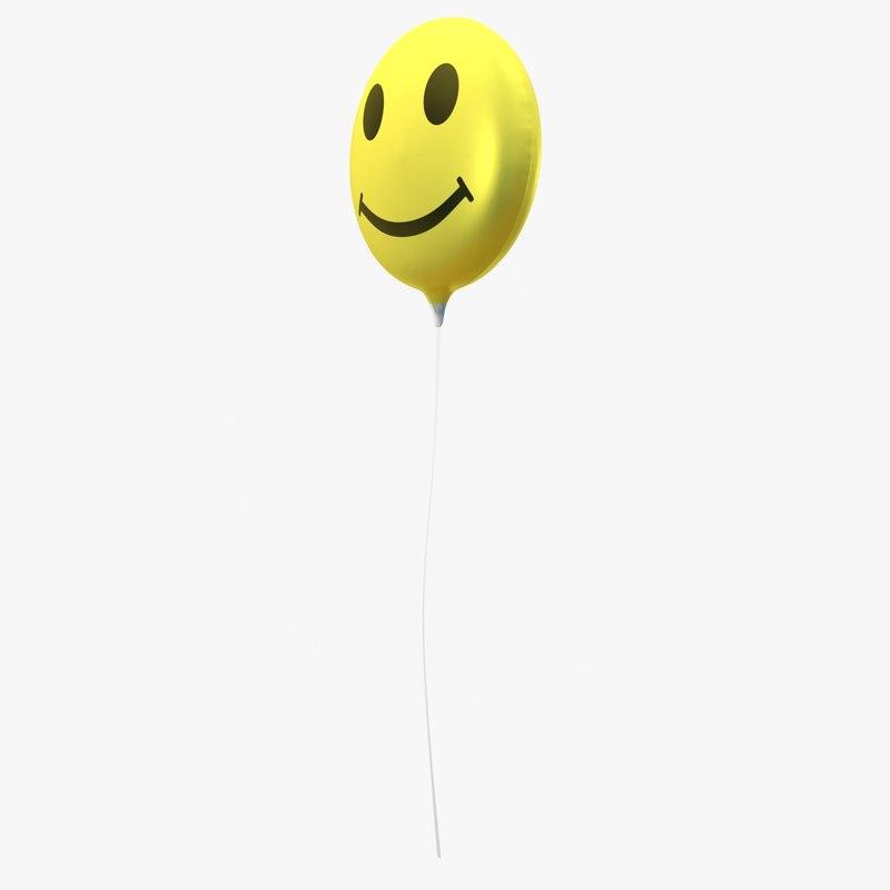 obj balloon helium smiley