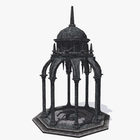 ancient pavilion gothic 3d model