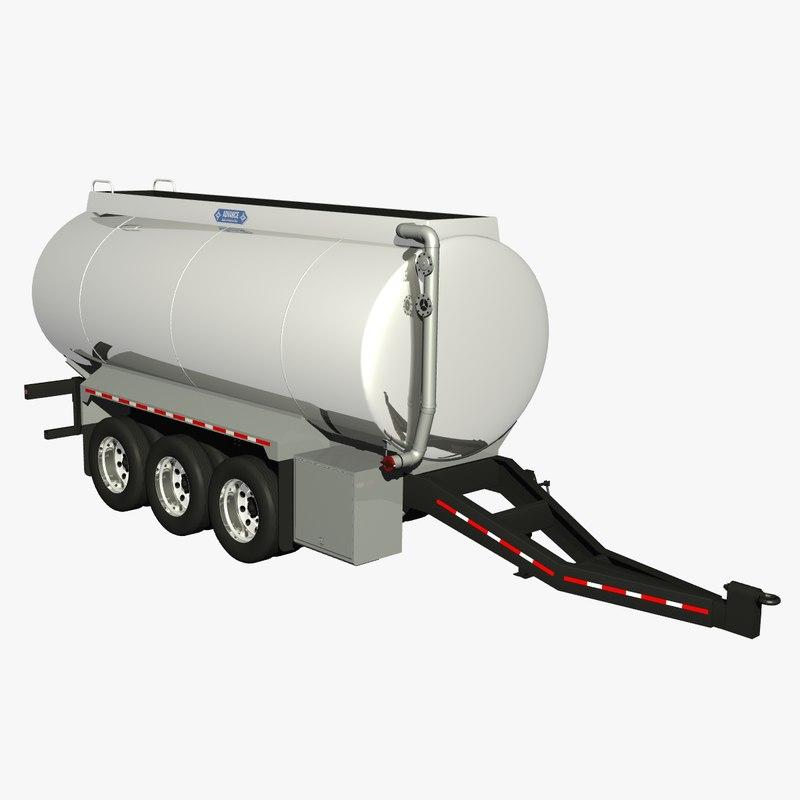 lwo 32ft pony tanker trailer